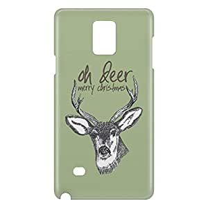 Loud Universe Samsung Galaxy Note 4 3D Wrap Around Oh Deer Print Cover - Multi Color