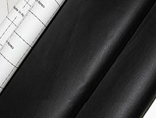 (Black Adhesive Faux Leather Upholstery Vinyl Fabric Auto Car Seat Covers Interior Sofa 1yd)