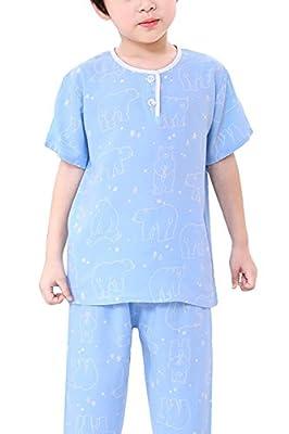 LLIOFUS Little Boys$Girls 2ps Cartoon Cool Soft Cotton Shorts Kid pjs set-001