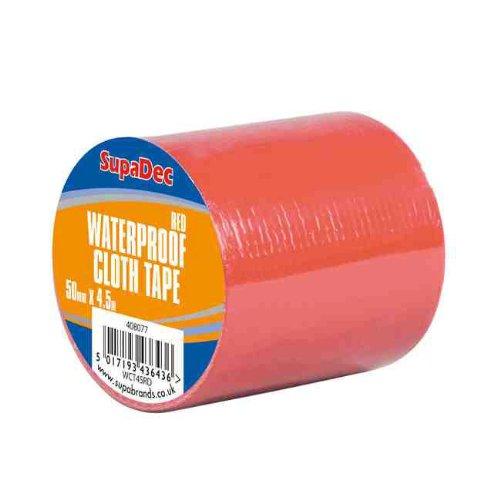 SupaDec Red Waterproof Cloth Tape 48mm x 4.5m (6 pack)