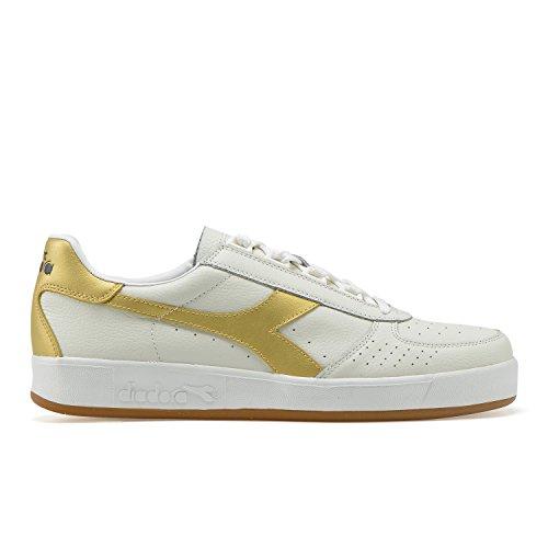 L B Sneaker Elite Bianco C1070 Adulto oro – Unisex Diadora qSOpwxx