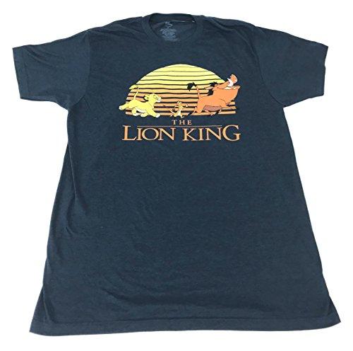 (DisneyParks The Lion King Simba Timon Pumba Shirt Mens Blue (Medium))