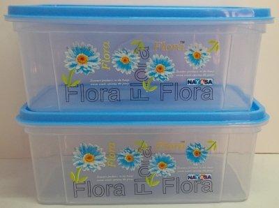 Nayasa Bread Box – 2000 ml Plastic Food (PACK OF 2, Blue)