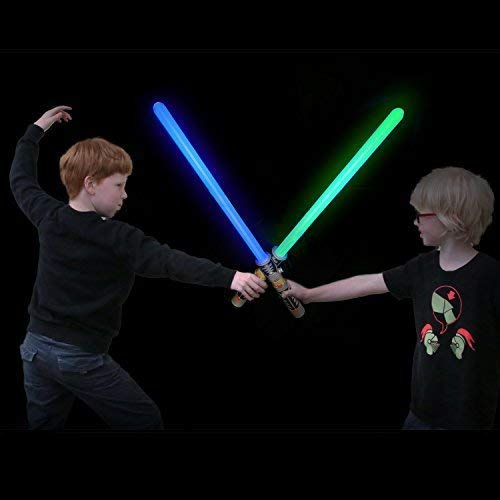 2-in-1 LED Light Up Sword FX Double Bladed Dual Sabers (2 Pack) by Liberty Imports (Image #5)