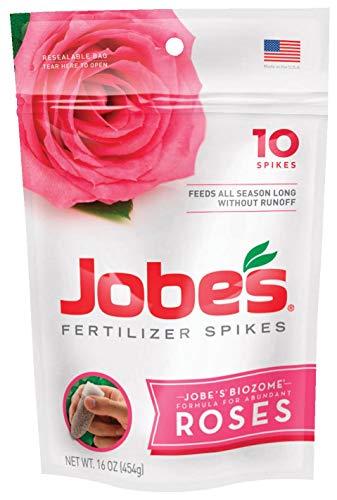 Jobes 4102 Rose Fertilizer Spikes 9-12-9 10 Pack (Jobes Rose Fertilizer Spikes)