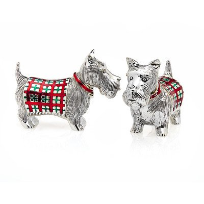 Godinger Scotty Dog Salt and Pepper Shakers - Scottie Dog Art