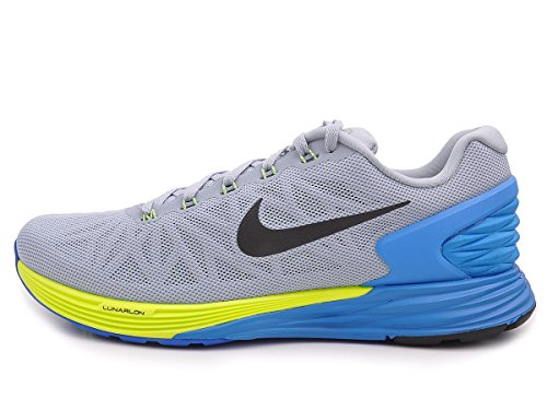 6951c3926836 Nike Men s Lunarglide 6 Lt Magnet Grey Blk Pht Bl Vlt Running Shoe 7.5 Men  US - Buy Online in Oman.