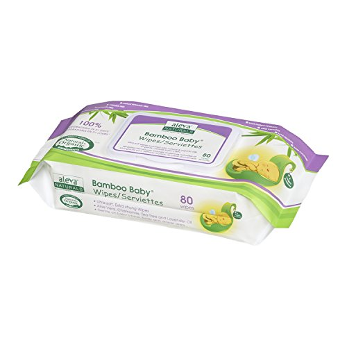 Aleva Naturals Bamboo Baby Wipes, 80 Count (Pack of 6)