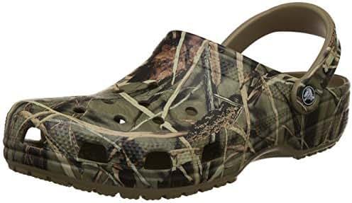 Crocs Men's and Women's Classic Realtree Clog    Comfort Slip On Camo Casual Shoe   Lightweight