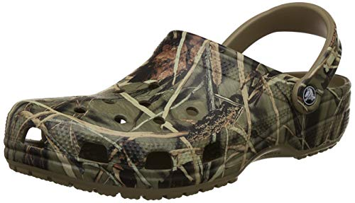 (crocs Classic Realtree, Khaki, 8 US Men's / 10 US Women's)