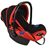Notty Ride Baby Car Seat Cum Carry Cot with Canopy(Red)