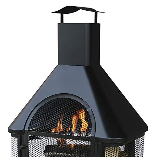 Jur_Global Black Wood Burning Outdoor Firehouse