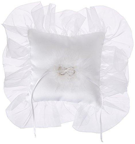 Ivy Lane Design Dog Ring Pillow, White, Large