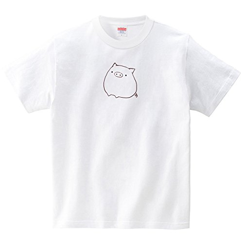 句関係ないショッキングまんまるブタさん(Tシャツ?ホワイト) (あいはらせと)