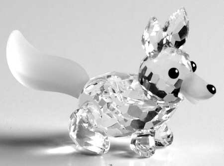 Swarovski Silver Crystal Miniature Running Fox ()