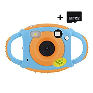 Funkprofi Kids Camera, Kids Digital Video Camera 5MP 1080P HD Recorder Camcorder with 1.77 Inch Screen, 32GB TF Card Included, Creative Birthday Gifts for Kids