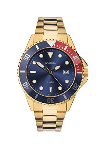 Sekonda Mens Gold Bracelet Sports Watch 1625