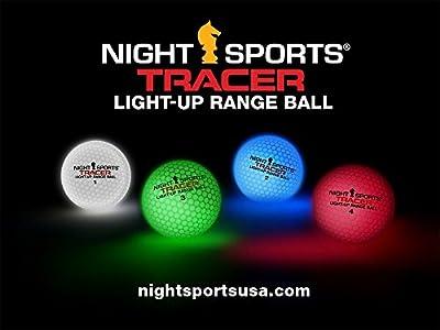 Night Sports Tracer Light Up Range Balls x 50 Pack