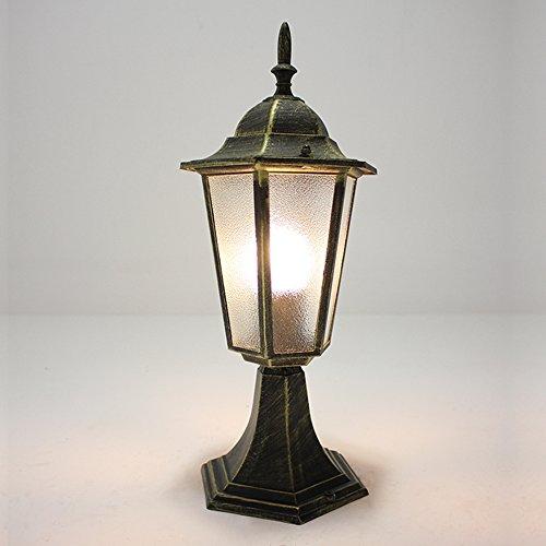 NATSEN Vintage Village Post Mount Outdoor Light Fixture E26 1-Light (Brass Outdoor Post Mount)