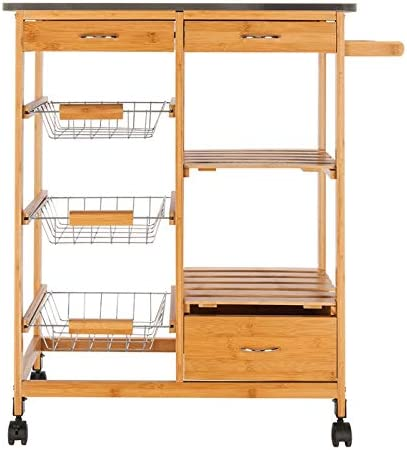 LeafRed C Moveable Kitchen Cart