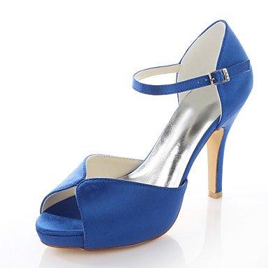 Red Women'S Shoes Blue Sandals Toe Dress Sandals Blue Black Wedding Satin Peep Purple Stretch vBaqwxgvS