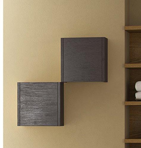 Eviva EVCB525-14WG Escorpio 14'' Wenge Modern Bathroom Side Cabinet Wall Mount Furniture Sets, Wenge/Dark Brown by Eviva