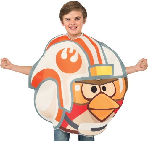 Angry Birds Star Wars Luke Skywalker Fighter Pilot Child's Costume Tunic, One (Luke Skywalker And Princess Leia Halloween Costumes)