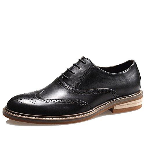 RENHONG d'affaires Soirée Hommes Chaussures Derby Marron pour à Mariée Lacets De en Robe pour Noir Décontractée Décontractée De Hommes Robe Les Black Les Cuir rY0rxpwq