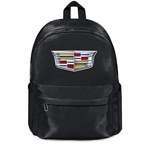 Womens Girl Boys Bag Purse Cadillac-Logo- Classic Nylon Packable School Backpack College Bookbag Black