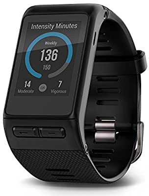Garmin GPS vivoactive HR Smart Watch, Black, Regular or X-Large Gift Pack