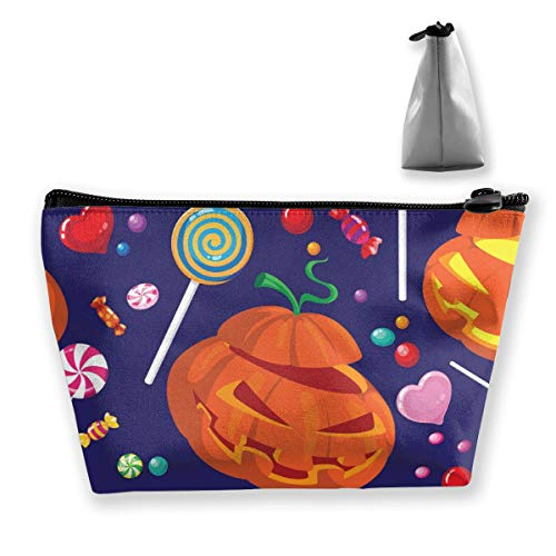 Yunshm Seamless Halloween Candy Vector Image Love Customized Trapezoidal Storage Bag Ladies Waterproof for Carrying Travel -