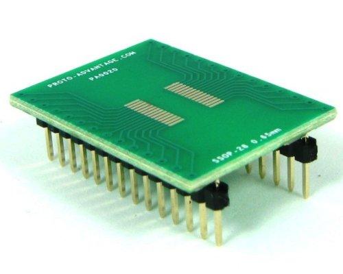 Proto-Advantage SSOP-28 to DIP-28 SMT Adapter (0.65 mm pitch)
