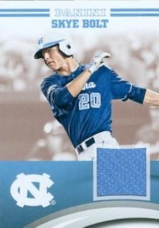 Autograph Warehouse 343673 Skye Bolt Player Worn Jersey Patch Baseball Card - North Carolina Tar Heels 2016 Panini Team Collection No. SB-NC