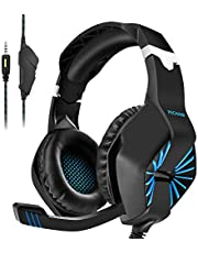 PECHAM Gaming Headset for Xbox One, PS4, PS3, PC with Mic - Surround Sound, Noise Reduction Game Earphone, Mute Switch- 3.5MM Jack for Cell Phone, Laptops, Computer