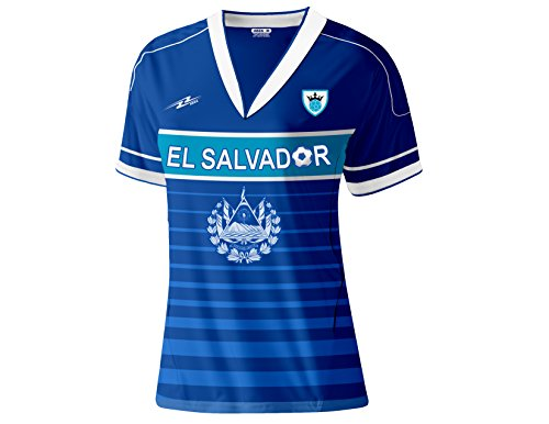 Arza Sports El Salvador Women Soccer Jersey (X-Large, Blue)