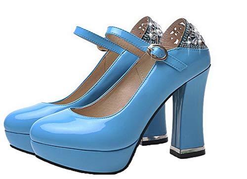 Tacco Maiale Chiusa Azzurro Puro Flats GMMDB006008 Punta AgooLar di Donna Ballet Fibbia Pelle Alto 0qtR0YwBx