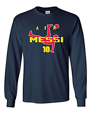 KING THREADS Long Sleeve Lionel Messi FC Barcelona Air Messi T-Shirt