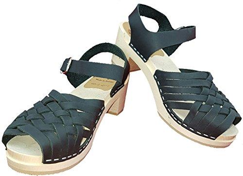 Clogs Para Damenclogs Negro Mb De Sandalias Mujer Schwarz Schwedenclogs Sandalette Geflochten Vestir Original dqcWcFvp71