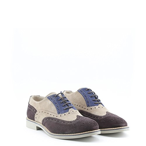 Brogue Made 100 De VÉRITABLE Chaussures FEDRO À saddlebrown CUIR In Ville Italia Lacets Homme ppqZ6
