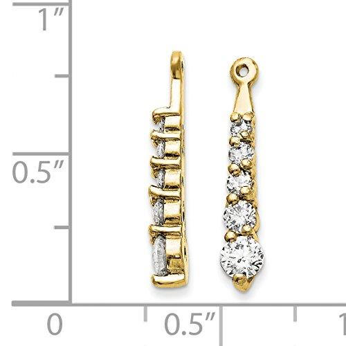 14k Yellow Gold 0.7IN Long H I SI2 Diamond Earrings