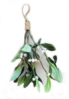 amazon com artificial silk green mistletoe with white berries and