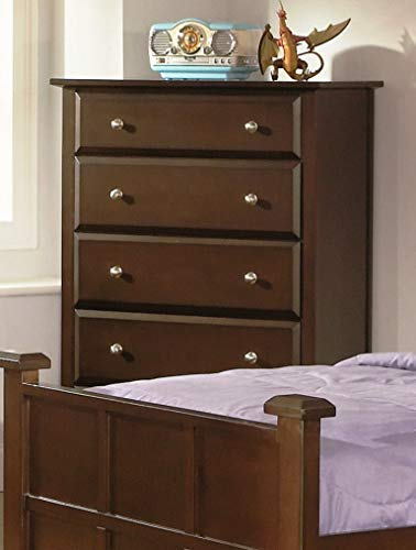 Jasper 5-Drawer Tall Chest Cappuccino