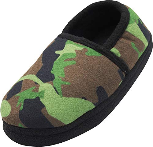 - NORTY - Toddler Boys Camouflage Fleece Slippers, Green 40826-9MUSToddler