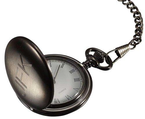 Personalized Visol Brushed Gun Metal Pocket Watch with Free Engraving ()