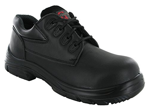 Chaussures de sécurité en cuir pour home - Marque Grafters Wide EEEE - 4œillets - Coque en acier