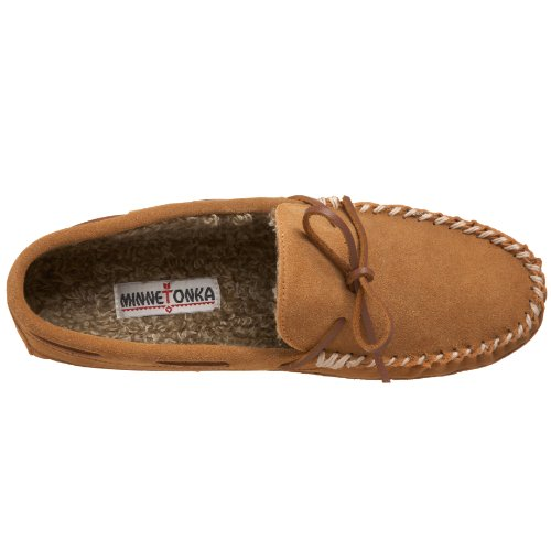 Men's Casey Minnetonka Slipper Suede Cinnamon pdpW7n