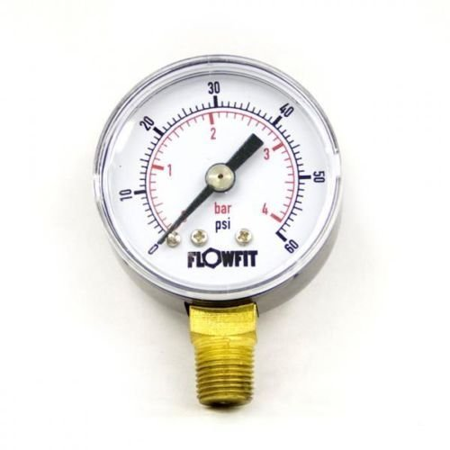 40mm Dry/Pneumatic pressure gauge 0-60 PSI (4 BAR) 1/8' bspt base entry Flowfit