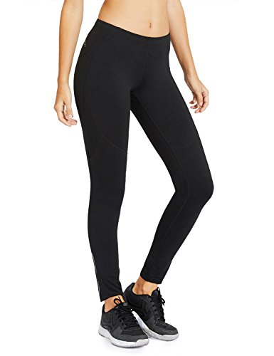 Baleaf Women's Cycling Running Athletic Thermal Fleece Tights Black Size M