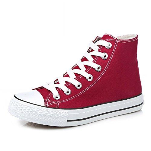 Lienzo Clásico Primavera,Los Amantes Del Zapato Sólidos Del Color Planos,Alta Zapatos Casuales,Cordón Finos Zapatos Del Estudiante F