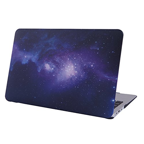 HDE Case for Macbook Air 11 Case Hard Shell Cover Solid Matte for Apple Mac Air 11.6'' fits Model A1370/A1465 (Galaxy Purple Case) by HDE